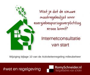 activiteitenbesluit, maatregelenlijst, erkende, energiebesparing